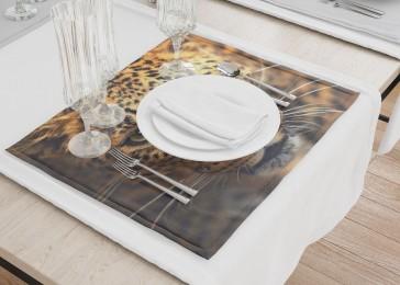 Сервировочные салфетки «Леопард портрет»