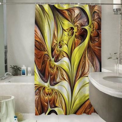 Шторы для ванной «Желтая абстракция»