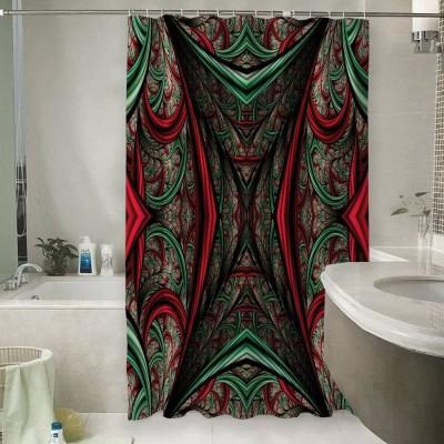 Шторы для ванной «Угловатый абстрактный тоннель»