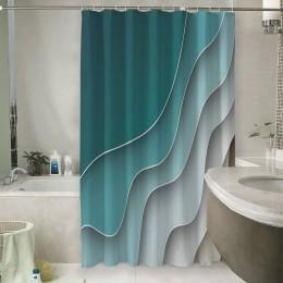 Шторы для ванной «Волнистый узор»