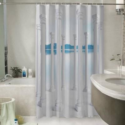 Шторы для ванной «Абстракция с колоннами»