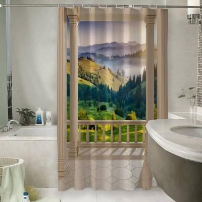 Шторы для ванной «Балкон с видом на альпийское утро»