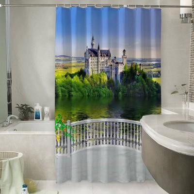 Шторы для ванной «Балкон с видом на замок»