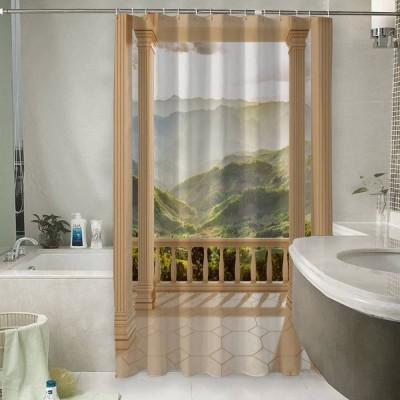 Шторы для ванной «Балкон с видом на солнечную долину»