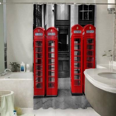 Шторы для ванной «Телефонные будки»