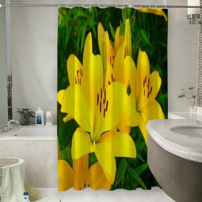 Шторы для ванной «Яркие желтые лилии »