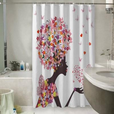 Шторы для ванной «Девушка-весна»