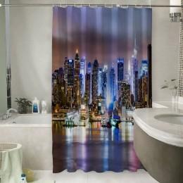 Шторы для ванной «Ночной город»