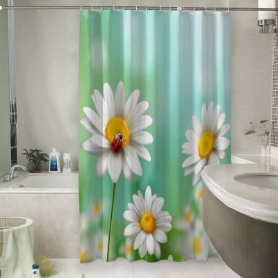 Шторы для ванной «Ромашки с божьей коровкой»