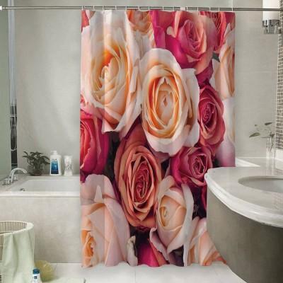 Шторы для ванной «Ассорти из роз»