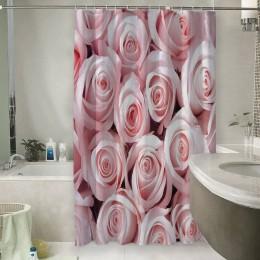 Шторы для ванной «Благоухающий букет нежных роз»