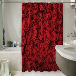 Шторы для ванной «Миллион алых роз»