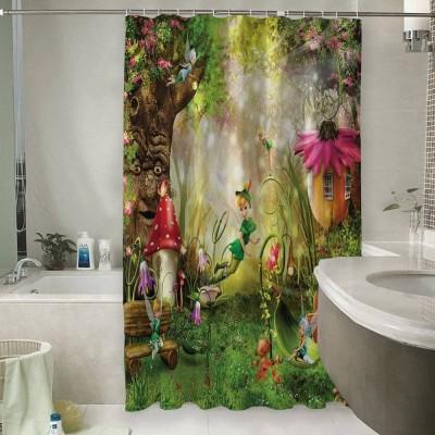 Шторы для ванной «Феечки в сказочном лесу»