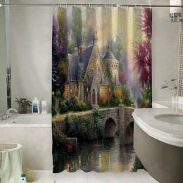 Шторы для ванной «Томас Кинкейд. Сказочный домик»