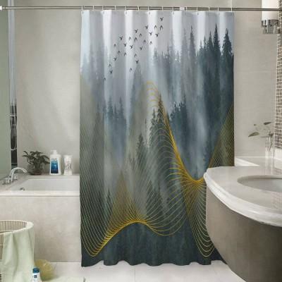 Шторы для ванной «Туман над лесом»
