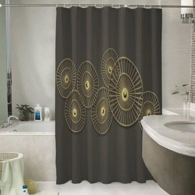 Шторы для ванной «Круги из позолоченных прутьев»