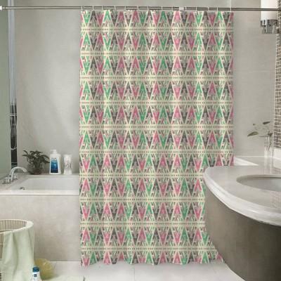 Шторы для ванной «Нежный штриховой узор»