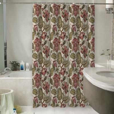 Шторы для ванной «Старинный цветочный узор»