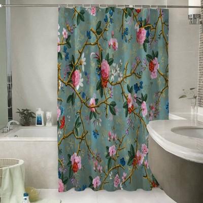 Шторы для ванной «Викторианский сад в светлых тонах»