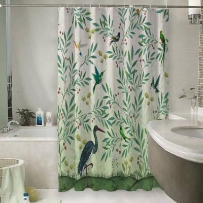 Шторы для ванной «Цапля в солнечном саду»