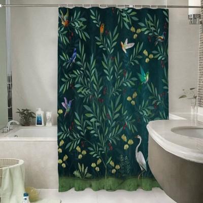 Шторы для ванной «Цапля в ночном саду»