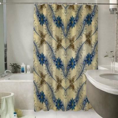 Шторы для ванной «Перо павлина»