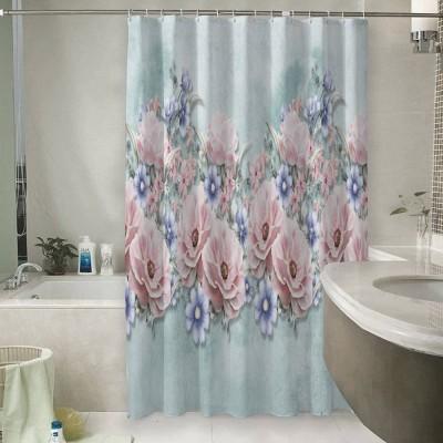 Шторы для ванной «Цветочная гармония»