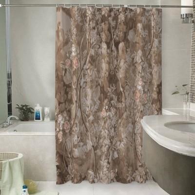 Шторы для ванной «Розовый сад в винтажном стиле»