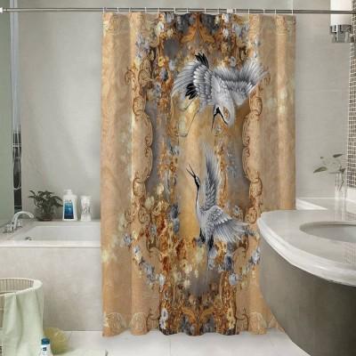 Шторы для ванной «Танцующие журавли»