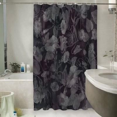 Шторы для ванной «Тёмно-вишнёвая шаль»