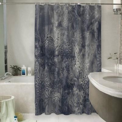 Шторы для ванной «Ночная таинственная поляна»