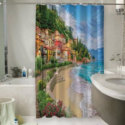 Шторы для ванной «Прилив на итальянском побережье»