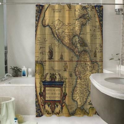 Шторы для ванной «Старая карта Америки»