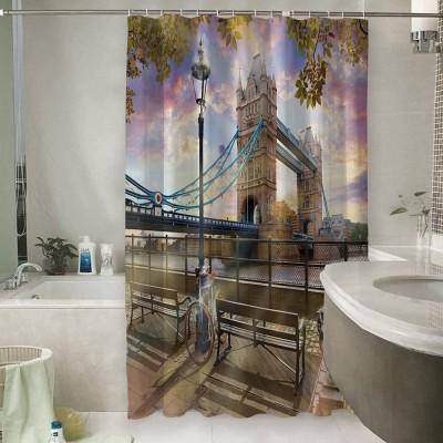 Шторы для ванной «Тауэрский мост»