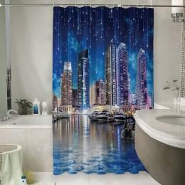 Шторы для ванной «Звездопад над ночным городом»