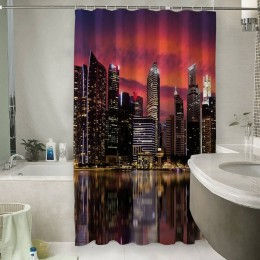 Шторы для ванной «Мегаполис.Город»