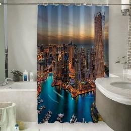 Шторы для ванной «Ночной Дубай»