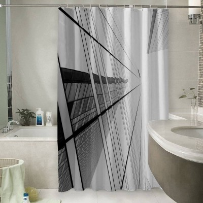Шторы для ванной «Окна небоскреба»