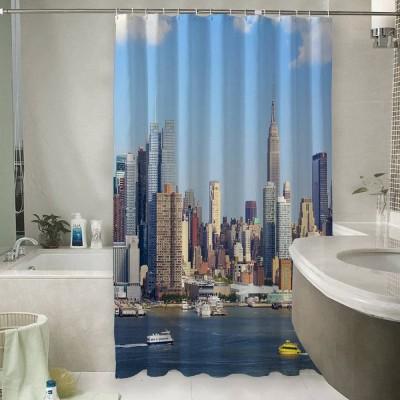 Шторы для ванной «С видом Нью-Йорка»
