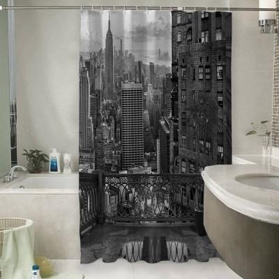 Шторы для ванной «Балкон в Нью-Йорке»