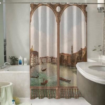 Шторы для ванной «Старая Венеция»