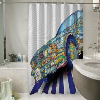 Шторы для ванной «Красочный бумер»
