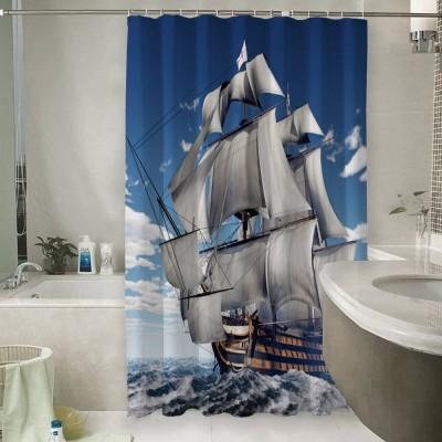 Шторы для ванной «Старый английский парусник»