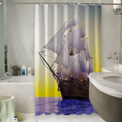 Шторы для ванной «Старый корабль в открытом океане»