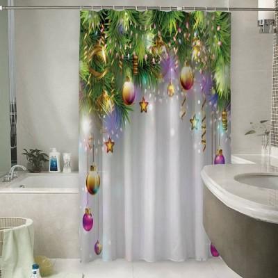 Шторы для ванной «Новогодняя инсталляция»