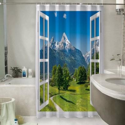 Шторы для ванной «Окно с видом на Баварские горы»