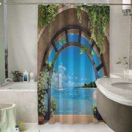 Шторы для ванной «Окно с видом на море»