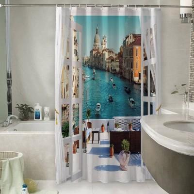 Шторы для ванной «Окно-балкон в Венеции»