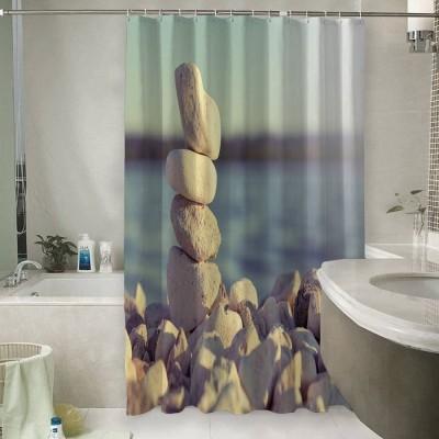 Шторы для ванной «Камни на берегу»