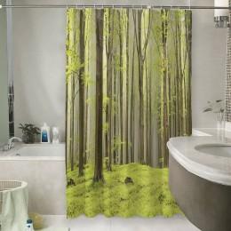 Шторы для ванной «Зеленый лес»